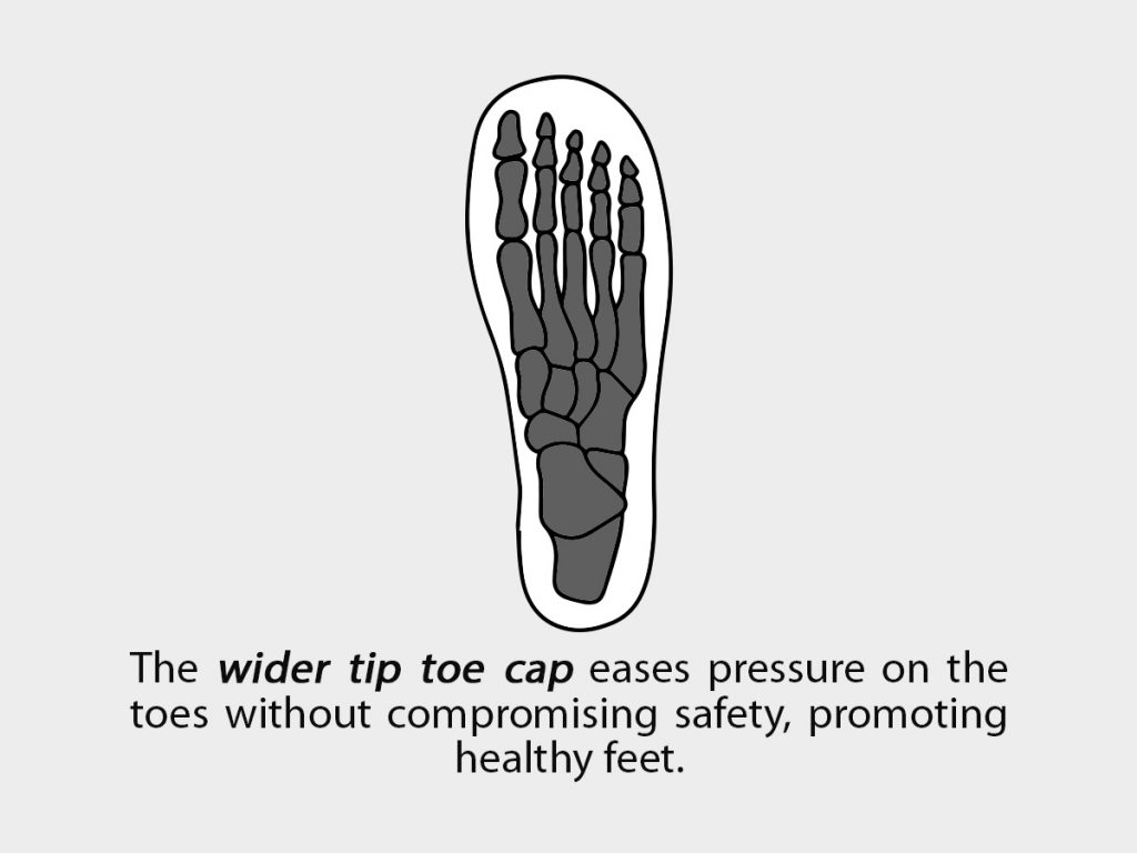 Wider Tip-Toe Cap
